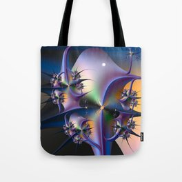 Abstract Upstairs Downstairs Balconies Tote Bag