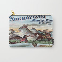 Vintage poster - Sheboygan Boot & Shoe Carry-All Pouch
