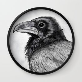 Corvus Corax (The Common Raven) Wall Clock
