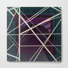 Crossroads - purple graphic Metal Print