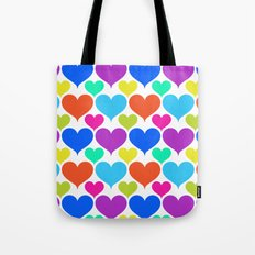 Bright hearts Tote Bag