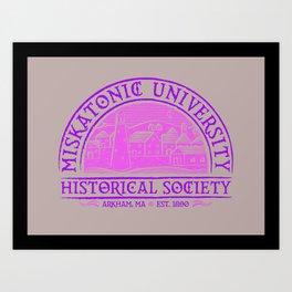 Miskatonic Historical Society Art Print