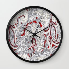 Paisley Shirt 1 Wall Clock