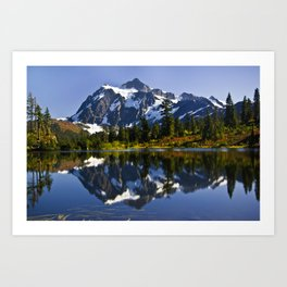 Mount Shuksan Reflected Art Print