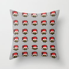 Pixel Bandanna Man Sprite Sheet 2015 Throw Pillow