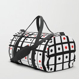 Dots in a grid Duffle Bag