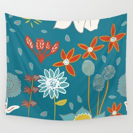 Happy Flowers Collection Wall Tapestry