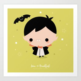Kawaii Dracula Art Print