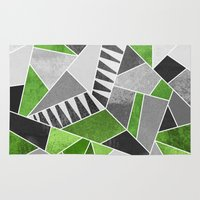 concrete Area & Throw Rugs featuring Concrete Jungle by Elisabeth Fredriksson