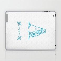 A Scallop: Blue Laptop & iPad Skin