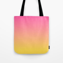 Pink and Yellow Ombre Print Tote Bag