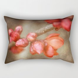 Chaenomeles buds Rectangular Pillow
