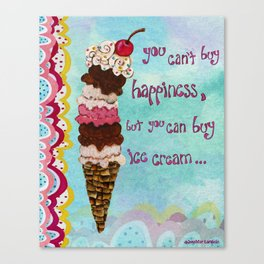 Ice Cream Happiness Canvas Print