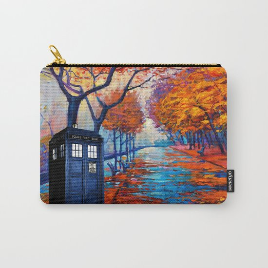 Tardis Autumn Alley Carry-All Pouch