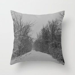 The Road that Leads to Nowhere Throw Pillow