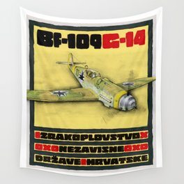 Bf-109 Airplane by Dennis Weber / ShreddyStudio Wall Tapestry