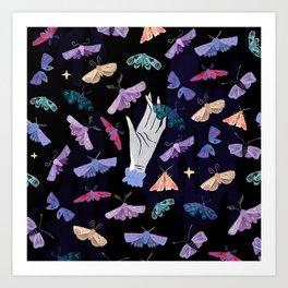 Moth Magic Art Print