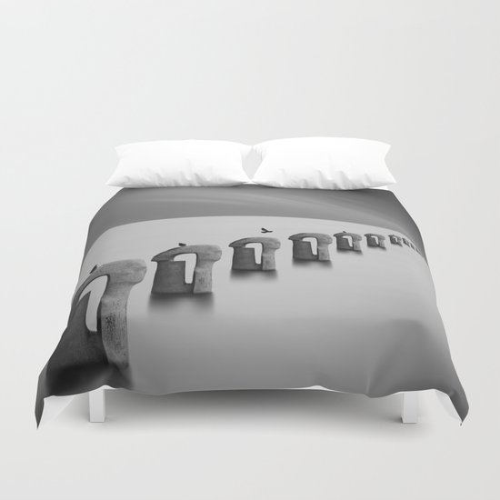 fog and sea Duvet Cover