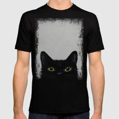 Black Cat MEDIUM Mens Fitted Tee Black