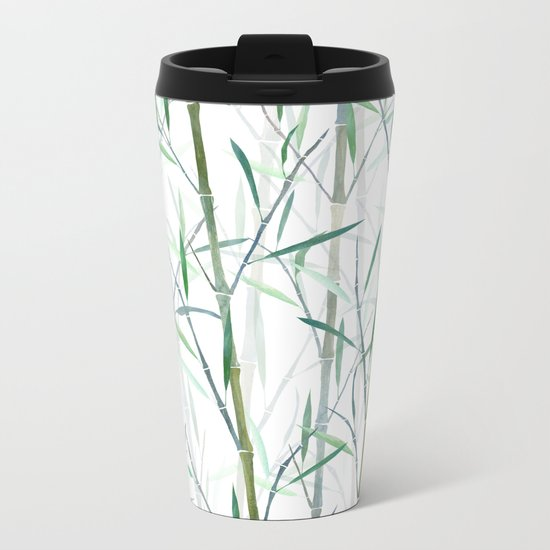 New Bamboo Forest Metal Travel Mug
