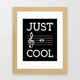 Just be cool (dark colors) Framed Art Print