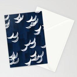 Solar eclipse shadows // navy Stationery Cards