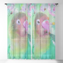 Conure in the Cosmos Sheer Curtain