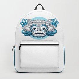 Barong Bali on Blue Backpack