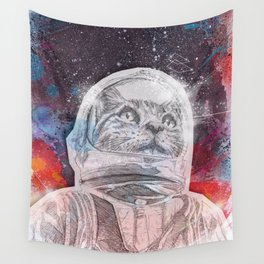Space_Cat Wall Tapestry