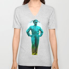 general, Eisenhower Unisex V-Neck