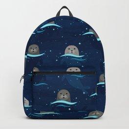 Seals in Glowing Sea Backpack