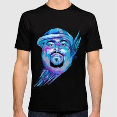 Big Pun : Dead Rappers Serie Black Mens Fitted Tee MEDIUM