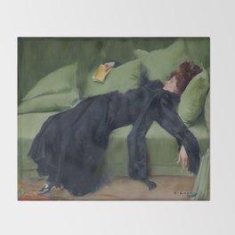 A DECADENT GIRL - RAMON CASAS Throw Blanket