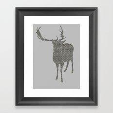 Stag Cutout Framed Art Print