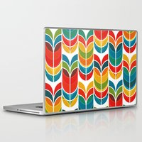 rainbow Laptop & iPad Skins featuring Tulip by Picomodi