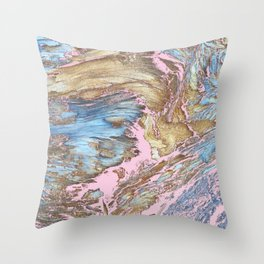 Woody Pink Throw Pillow