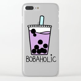 Bobaholic Clear iPhone Case
