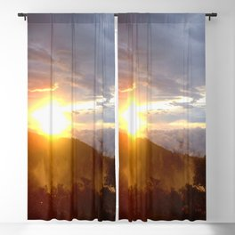 Sunset over the jungle in Costa RIca Blackout Curtain