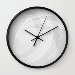Orbiting Circle Design in Soft White Wall Clock