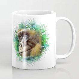 A Gorilla Watercolor Portrait Coffee Mug