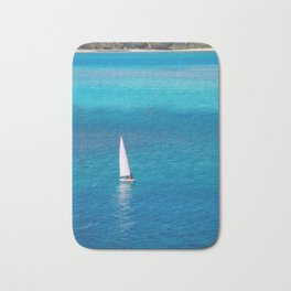 Perfect Blue Sailing Day Bath Mat