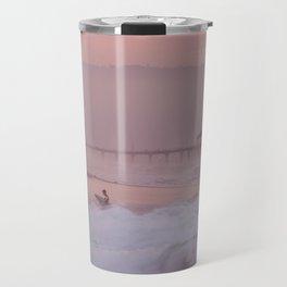 Manhattan Beach Surfer at Sunset Travel Mug