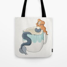 Tea Mermaid Tote Bag