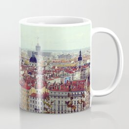 Lyon cityscape, view from Croix-Rousse - Fine Arts Travel Photography Coffee Mug