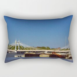 Albert Bridge on the Thames in London Rectangular Pillow