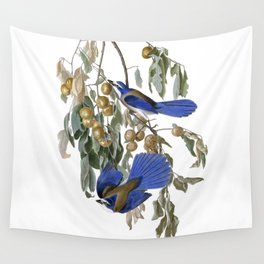 Florida Jay - Vintage Illustration by J.J. Audibon Wall Tapestry