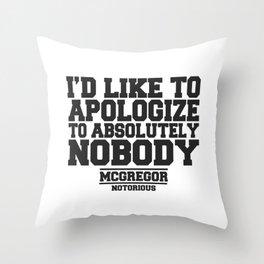 CONOR MCGREGOR QUOTES Throw Pillow