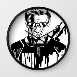 Avengers in Ink: Hawkeye Wall Clock