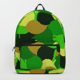 leaves ladybug and leaves pattern Backpack