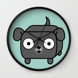 Pitbull Loaf - Blue Grey Pit Bull with Floppy Ears Wall Clock